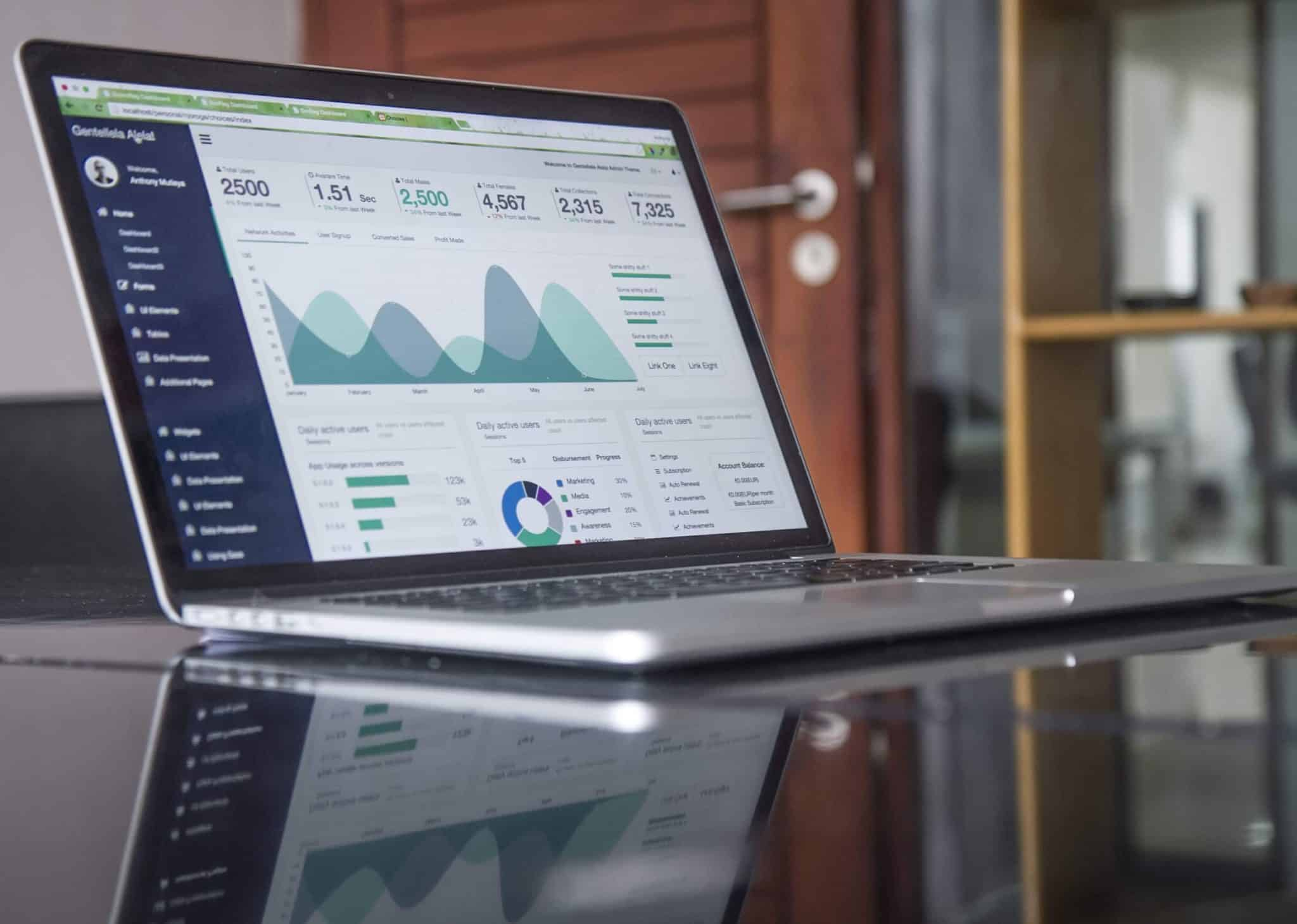 A laptop with search engine optimization services