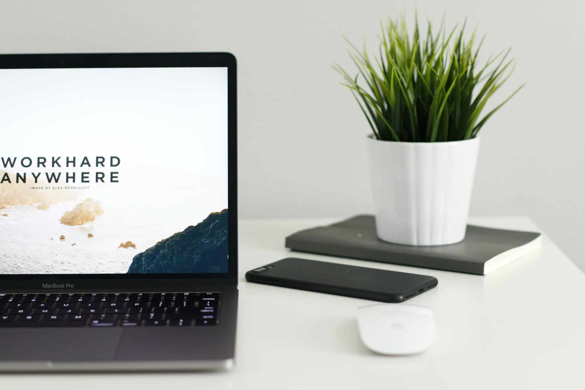A laptop with web design and seo services