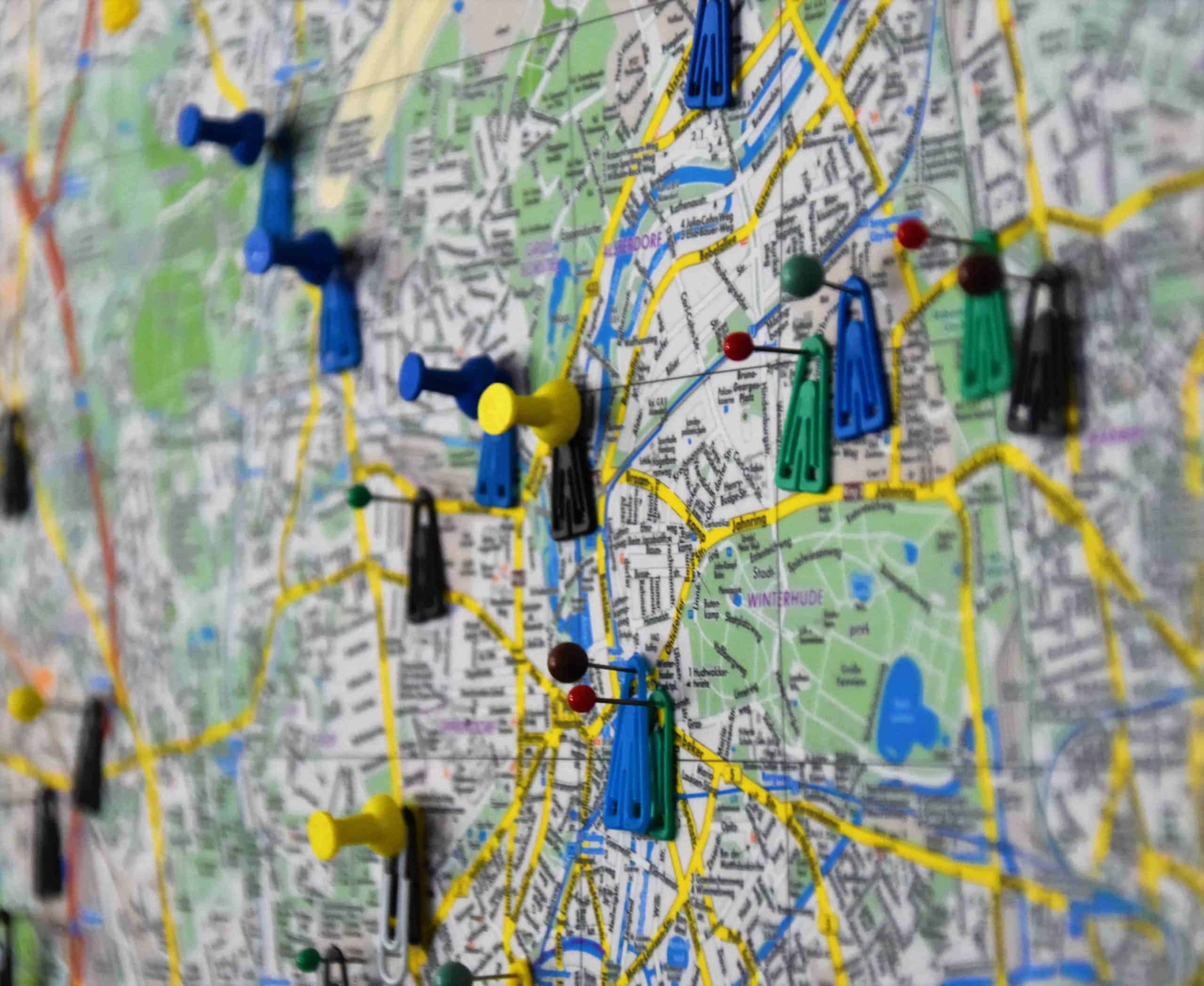 Local SEO for small businesses on a map